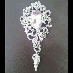 Hot New Vintage Dangle Pendant Crystal Wedding Gentle Lady Rhinestone Brooch