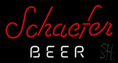 Schaefer Beer Beer Neon Sign 20 Tall x 37 Wide x 3 Deep, is 100% Handcrafted with Real Glass Tube Neon Sign. !!! Made in USA !!!  Colors on the sign are Red and White. Schaefer Beer Beer Neon Sign is high impact, eye catching, real glass tube neon sign. This characteristic glow can attract customers like nothing else, virtually burning your identity into the minds of potential and future customers.