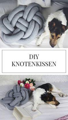 Du suchst Ideen für DIY Dekoration für deine Wohnung? Wir zeigen dir eine Anleitung, um ein Knotenkissen zu nähen!