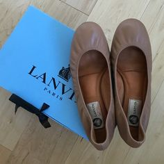 HP Lanvin Classic Ballet Flat in Taupe Gorgeous! The most comfy flats ever. Padded insoles. Taupe color goes with everything. Worn a few times. In excellent condition. Comes with original box and dustbag. Leather. Size 38, fits 7.5. No trades! Lanvin Shoes Flats & Loafers