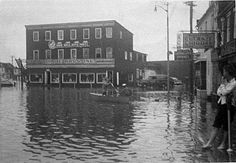 Storm damage & flooding in downtown Annapolis, MD... (Not sure if this was from Hurricane Hazel circa 1954)...