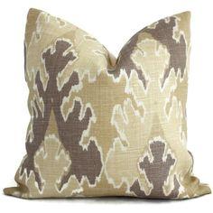 Kelly Wearstler Bengal Bazaar Straw Mushroom Ikat Pillow Cover