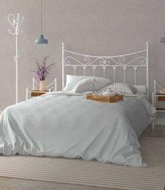 + 60 fotos e ideas para hacer un cabecero de cama original Study Room Decor, Room Ideas Bedroom, Girls Bedroom, Bedroom Decor, White Iron Beds, White Metal Bed, Funky Furniture, Furniture Decor, Cama Vintage
