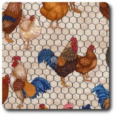 Chickens and Roosters Decoupage, Cute Themes, Chickens And Roosters, Special Pictures, Novelty Fabric, Borders And Frames, Frame Clipart, Mug Rugs, Picture Collection
