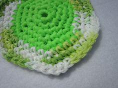 Kitchen Scrubbie Cotton and Nylon Tulle in by crochetedbycharlene