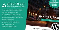Ensconce - Responsive WordPress Video Landing Page (Entertainment)