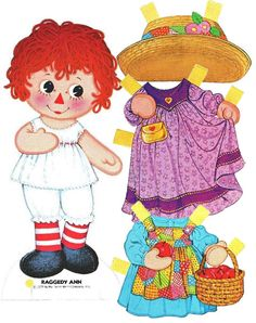 (⑅ ॣ•͈ᴗ•͈ ॣ)                                                            ✄Raggedy Ann paper doll