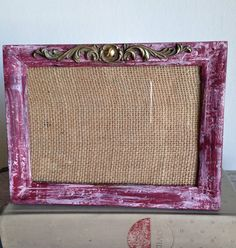 Picture Frame Wood ReCycled Hand Painted Distressed by PippinPost, $16.00
