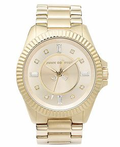 Juicy Couture Watch, Women's Stella Gold-Tone Stainless Steel Bracelet 40mm 1900929