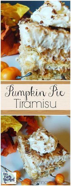 Dessert doesn\'t get any better than this!! All the delicious layers of tiramisu with the added flavor of pumpkin pie!!! This is amazing! #YourSeasonIsServed #ad #pumpkinpie #Thanksgiving #Christmas #Tiramisu #dessert