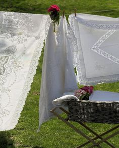 Love the flower and the linens