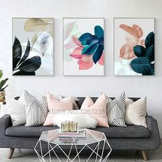 Colorful Leaf Wall Art Canvas Painting Cuadros Posters And Prints Nordic Poster . Colorful Leaf Wall Art Canvas Painting Cuadros Posters And Prints Nordic Poster Picture Wall Pictures For Living Room Unframed Frames On Wall, Framed Wall Art, Canvas Wall Art, Leaf Wall Art, Metal Tree Wall Art, Living Room Decor Pictures, Motif Art Deco, Room Wall Decor, Living Room Designs