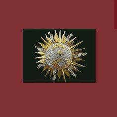 Swarovski retired crystal moon stars celestial brooch. Signed SWAROVSKI