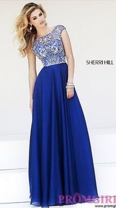 Floor Length Cap Sleeve Dress by Sherri Hill  This is my dress!!