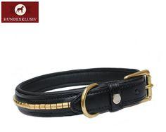 Hochwertiges Lederhalsband Schwarz  Sportlich und doch elegant präsentiert sich das hochwertige Lederhalsband Schwarz. Verwöhnen Sie Ihren Vierbeiner mit traditioneller Handwerkskunst aus der Sattlerei Otto Schumacher.