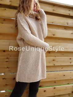 Oversized Chunky knit sweater. Slouchy/ Bulky от RoseUniqueStyle