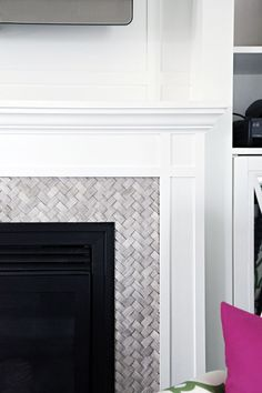 4 Jolting Useful Tips: Brick Fireplace Drawing fireplace classic house.Fireplace Outdoor Concrete fireplace with tv bookshelves.Fireplace With Tv Above Ideas. Fireplace Tile Surround, Fireplace Update, Fireplace Built Ins, Farmhouse Fireplace, Fireplace Remodel, Fireplace Surrounds, Fireplace Design, Fireplace Mantels, Fireplace Ideas