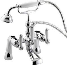 - Taps showcased at QS Supplies are best in design & quality. This Bristan Renaissance Bath Shower Mixer Tap - BSM C features shiny chrome finish. Bath Shower Mixer Taps, Bathroom Taps, Shower Hose, Kitchen Taps, Bathroom Fixtures, Taps Bath, Loft Bathroom, Bathroom Stuff, Bathroom Interior