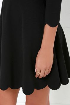 Skater Skater Dress - Long Sleeve Dress - LBD - Fit-and-Flare Dress - $56.00