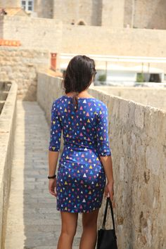 Most popular sewing pattern on my shop - ladies dress Jackline Photo taken in summer 2018 on vacation in Croatia Dress Sewing Patterns, Sewing For Beginners, Slow Fashion, I Dress, My Design, Dresses For Work, Dubrovnik Croatia, Popular, Vacation