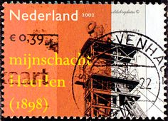 Netherlands.  Heerlen coal mine shaft, 1898.  Industrial Heritage.  Scott  1137d A435, Issued 2002 Sept. 24, Perf. 14 1/2x14 3/4, 39c. /ldb.