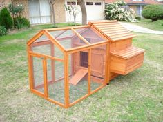 Chicken coop and run. This would also be cool for rabbits. Chicken Coops, Urban Farming, Truffle, Lawn And Garden, Rabbits, Homesteading, Farmer, Outdoor Gardens, Fur Babies