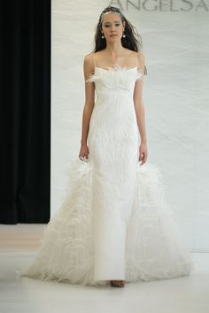 Angel Sanchez's Spring 2013 Bridal Collection is full of great silhouettes and modern necklines.  Check out this beautiful collection!