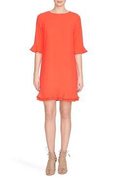 CeCe by Cynthia Steffe 'Kate' Ruffle Hem Shift Dress (Regular & Petite)