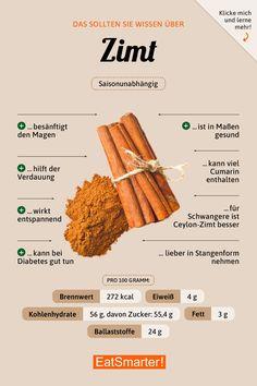 Das solltest du über Zimt wissen | eatsmarter.de #ernährung #infografik #zimt