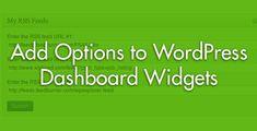 Make A WordPress Dashboard Widget Configurable