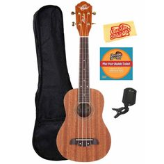 Great #beginner package.. Oscar Schmidt #concert #ukulele. Comes with a bag, tuner, and a DVD to help you learn how to play!