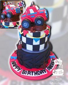 Monster Truck 6th Birthday by FaithfullyCakes, via Flickr