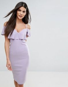 River Island Frill Front Bodycon Dress