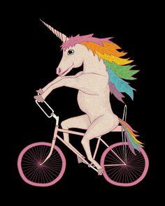 unicorn-riding-bike-8x10.jpg 520×650 pixels