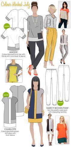 Blusa Clothing Blocked De Gratis Vestidos Moldes Combinados Color Patrones 5YBOq