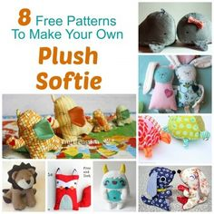 softie patterns, link leads to collection of links to patterns.