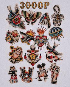Old Tattoos, Badass Tattoos, Body Art Tattoos, Small Tattoos, Traditional Tattoo Old School, Traditional Tattoo Art, Half Sleeve Tattoos Designs, Tattoo Designs And Meanings, American Classic Tattoo