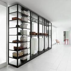 Contemporary walk-in wardrobe / oak / high-end / custom AIR  Porro