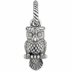 Brighton charms are all classics, this one is done in silver with crystals and Owls are so hot right now. debraherringstudio.com