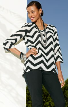 Chic Chevron Candie Top #Resort #travel #chicos #gifts