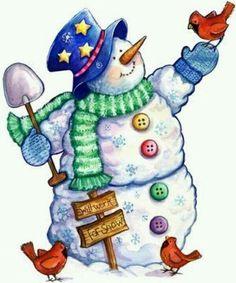 sneeuwman met hoed