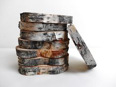 Wood Slices Tree Slices Rustic Wood Slices Birch by DaliasWoodland, €20.00