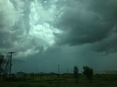 Green clouds heavy with hail are a common sight here in Texas!