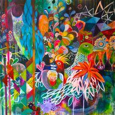 2x2m, acrylics on canvas, wesna wilson