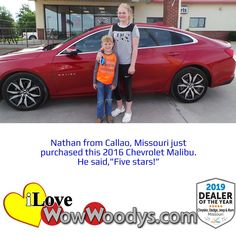 Nathan just purchased a gorgeous Chevrolet Malibu, congratulations! 🎉 #wow #wowwoodys #woodysautomotive #cars #trucks #suvs #carsforsale #trucksforsale #suvsforsale #kansascity #chillicothe #customerreviews #customertestimonials #wowcarbuying #carshopping #happycustomers #2016chevroletmalibu #chevroletmalibu #chevrolet #malibu