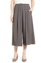 Eileen Fisher Pleat Wide Leg Crop Pants