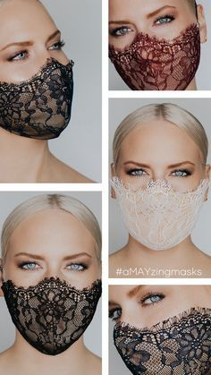Easy Face Masks, Diy Face Mask, Diy Masque, Bridal Mask, Lace Mask, Techniques Couture, The Blushed Nudes, Chantilly Lace, Fashion Face Mask