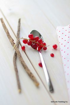 Red Currants by Eszter Befőz - befozok Food Design, Red Currants, Food Photography, Hair Accessories, Fruit, Kitchen, Cooking, Kitchens, Hair Accessory