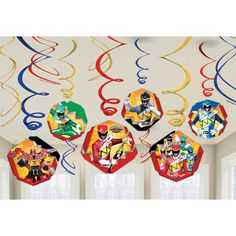 Check out Power Rangers Dino Charge Foil Swirl Hanging Decorations - Low Priced…