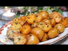 Garlic and Lemon Potatoes for Snacks or Garnish - Modern Mexican Dessert Recipes, Mexican Dishes, Greek Recipes, Vegan Recipes, Cooking Recipes, Lemon Potatoes, Salty Snacks, Potato Recipes, Cooking Time